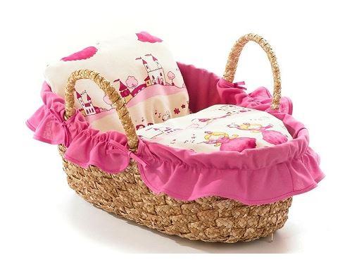 Couffin garni rose pour poupée 36 cm - accessoire poupon