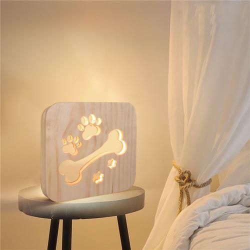 Creative Craft Décoration Lampe en bois Led Lumière Veilleuse Lampe de table_onaeatza439