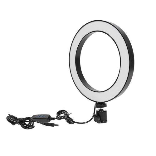 Dimmable LED studio anneau lumière de la caméra photo visiophone lumière lampe Annulaire
