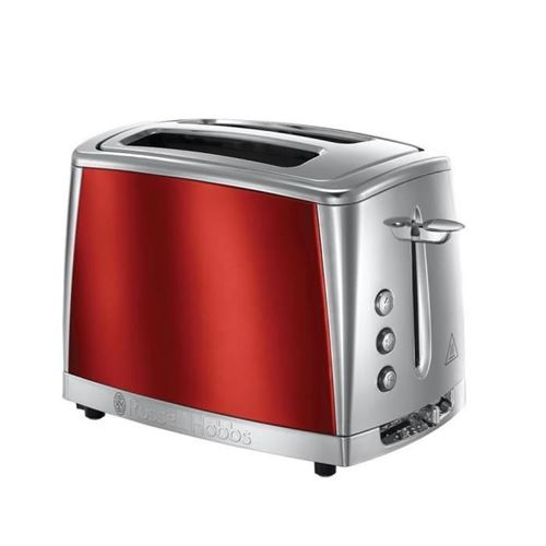 Russell Hobbs 23220-56 -toaster Luna - Technologie Fast Toast - Rouge Solaire