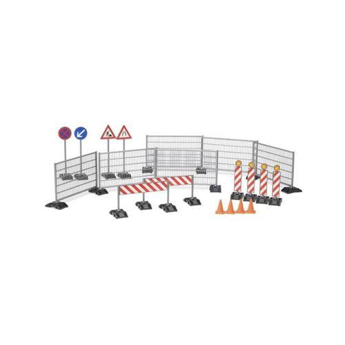 BRUDER - Accessessoires de chantier: panneaux de signalisation, plots... - 18 cm