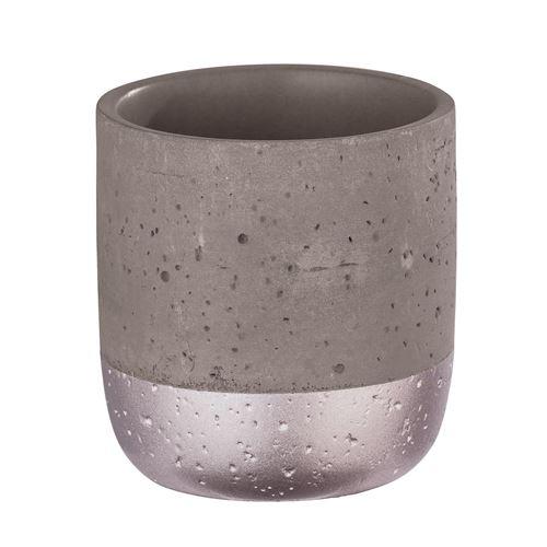 Wenko - Gobelet de salle de bain design Mauve - Gris rosé - Mauve