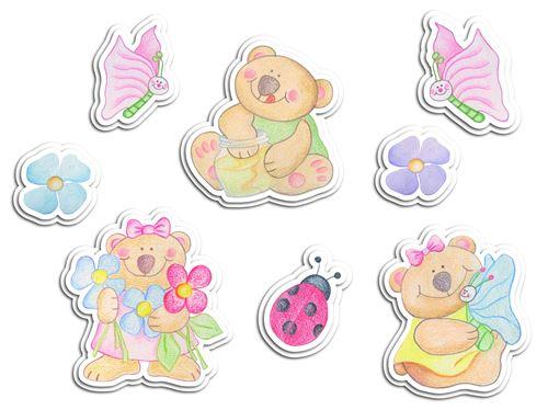Kids Decor décoration murale en mousse Bear Brothers junior 8 pièces