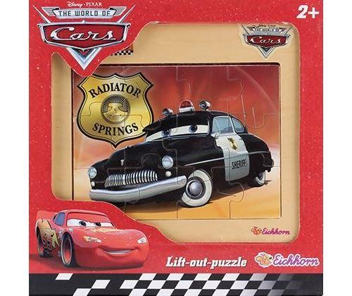 Puzzle en bois - voiture sheriff 12 pieces