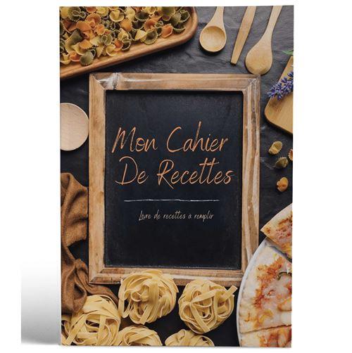 Mon cahier de recettes | Livre de recettes à remplir | Design Ardoise