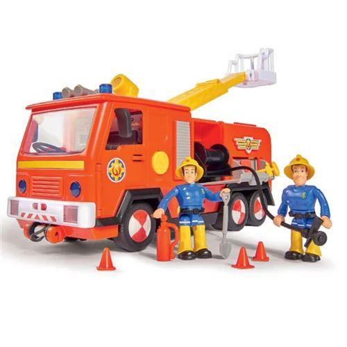Simba Camion de pompiers jouet 28 cm Sam le pompier Rouge et jaune