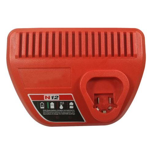 pour Milwaukee N12 Li-Ion Red Lithium 12V Batterie 48-59-2401 48-11-2440 Charge Ue Xcq469