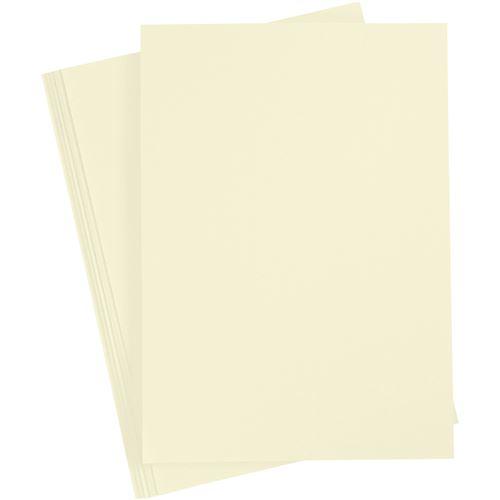 Creotime carton 21 x 29,7 cm 10 pièces jaune pastel