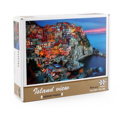 Puzzle 1000 pièces pour enfants - Villa de l'île - Multicolore