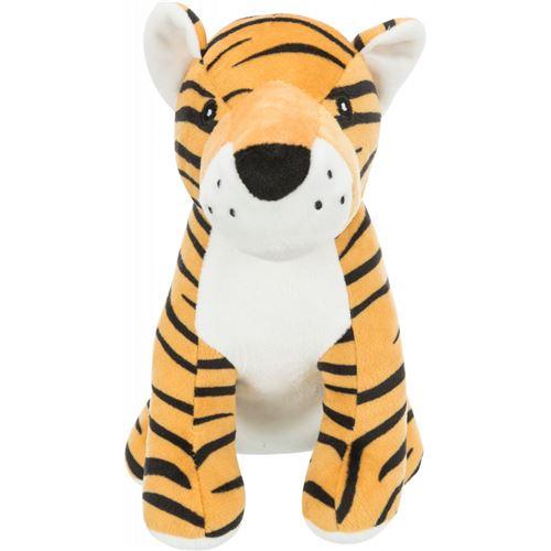 Peluche Tigre avec son, taille 21 cm. pour chien.