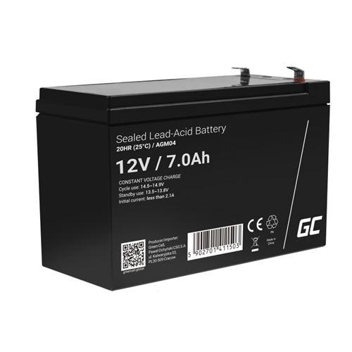 Green Cell AGM Batterie au plombb 12V 7Ah