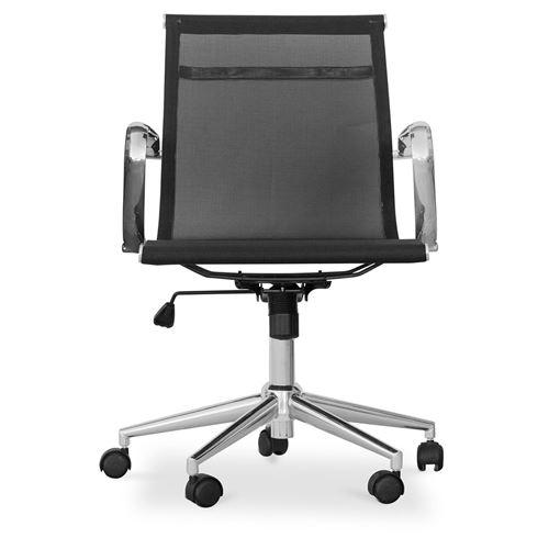 Chaise Bureau De Myfaktory T17 Blanc Et Maille Métal Roues rodCeWxB