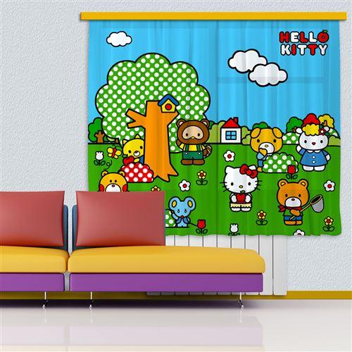 Voilage Hello Kitty Jardin Sanrio