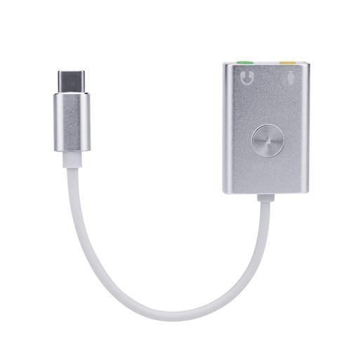 Adaptateur Audio Externe Écouteurs Usb de Type C Carte Son Hifi Magique Voix 9.1 Ch 3D ZJT003