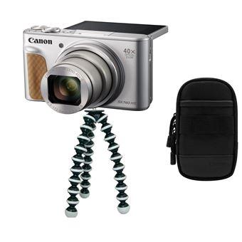 Canon PowerShot SX740 HS - Travel Kit - digitale camera - compact - 20.3 MP - 4K / 30 beelden per seconde - 40x optische zoom - Wi-Fi, Bluetooth - zilver