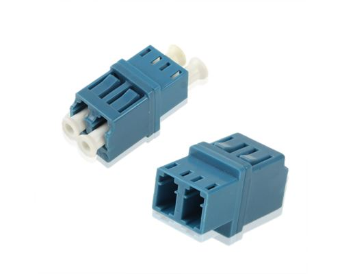 (#26) LC-LC Single-Mode Duplex Fiber Flange / Connector / Adapter / Lotus Root Device(Blue)