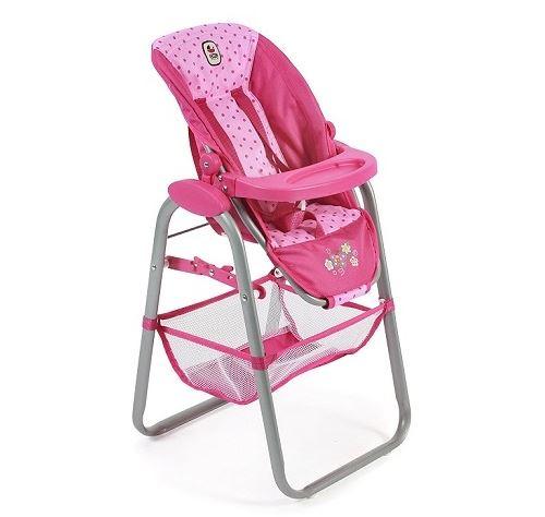 Chaise haute pour poupée jusqu'à 50 cm - accessoire mobilier poupon