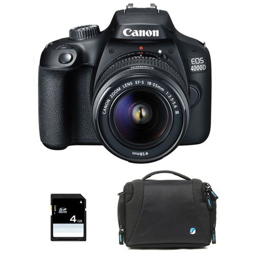 Canon Eos 4000D + 18-55 Iii + Sac + Sd 4Go
