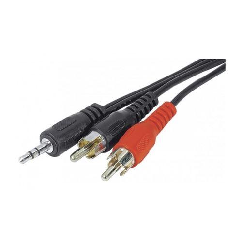 Câble stéréo jack 3.5 mm x 2RCA m 5 m