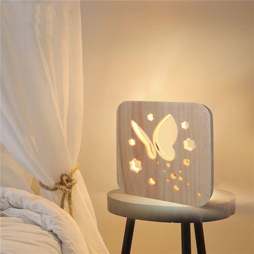 Creative Craft Décoration Lampe en bois Led Lumière Veilleuse Lampe de table_onaeatza442