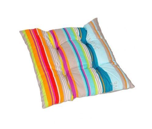 Jardin prive galette de chaise flocons colors - 38x38x8 cm - multicolore