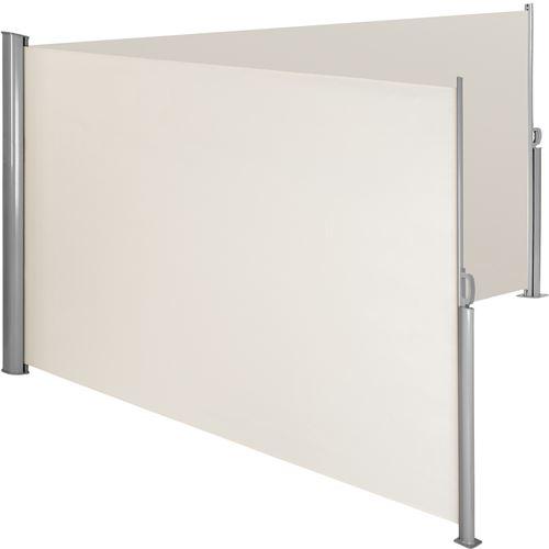 TecTake Paravent rétractable double - 200 x 600 cm - beige