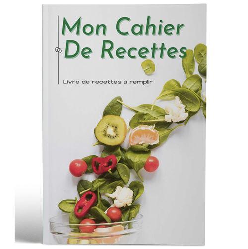 Mon cahier de recettes | Livre de recettes à remplir | Design Salade