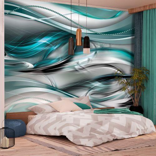 350x245 Papier peint Moderne Abstractions Distingué Tunnels (Green)