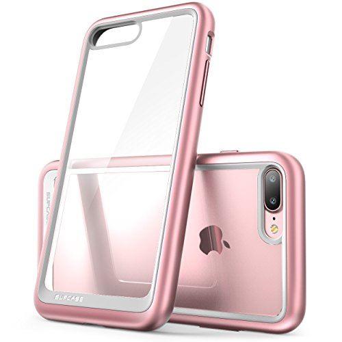 Coque iPhone 8 Plus SUPCASE Unicorn Beetle Style Coque Transparente Anti Choc de Protection Hybride Resistant aux Rayures pour iPhone 8 Plus 2017 iPhone 7 Plus 2016 Or Rose