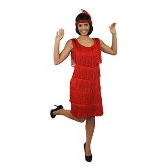 Deguisement Pour Femme Des Annees 20 Avec Cette Magnifique Robe Rouge A Franges Devant Et Derriere Style Charleston Large Deguisement Adulte Achat Prix Fnac