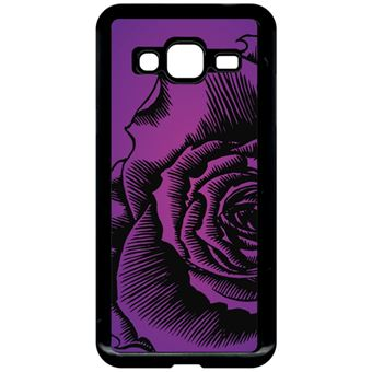 coque fleur violet samsung j3 2016