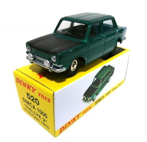 Simca 1000 Rallye 2 Prototype 1975 - Couleur Verte Avec Capot Noir - Atlas Dinky Toys (Ref 520)