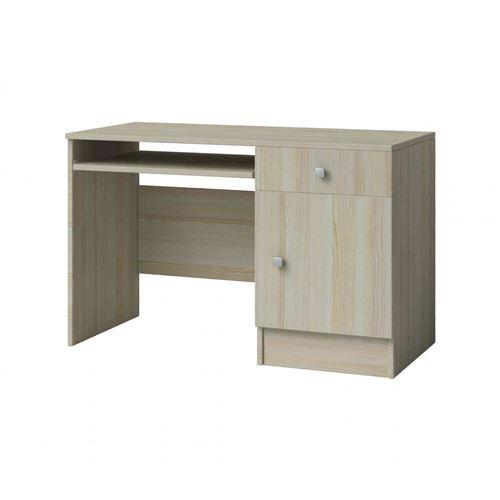 Bureau enfant 1 porte 1 tiroir en bois frêne clair - BU4024