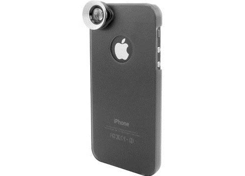 Coque de protection arrière pour iPhone 5 avec objectif 2 en 1 grand angle et macro