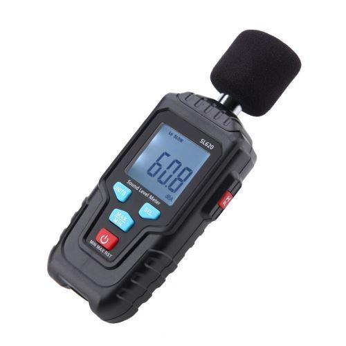 Sonomètre niveau sonore SL620 Enregistreur LCD de niveau sonore 30-135dB Mesure du bruit