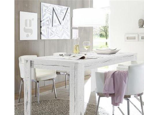 x L JACE H à 185 P manger couleur 4 79 contemporaine chêne 90 cm Table x blanchi mNw0Ov8n