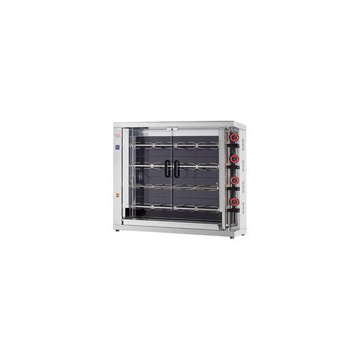 Rôtissoire électrique vitro-céramique, 4 broches, 20 à 24 poulets - EKO