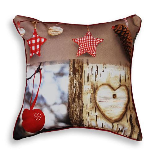 coussin passepoil 40 x 40 cm polyester photoprint candeur