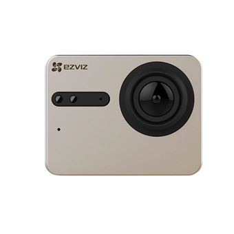 EZVIZ S5 4K Caméra Sport Action, 16MP, Boîtier étanche, Grand angle 158°, Écran tactile 2 pouces, Wi-Fi Dual 2.4G, BLE 4.0., 1 Batterie rechargeable, Microphone Dual, Port carte SD, Processeur vidéo Ambarella