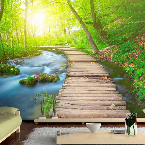 400x280 Papier peint Moderne Green forest