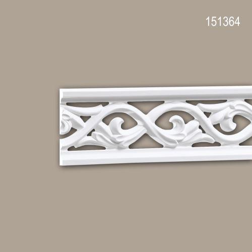 Cimaise 151364 Profhome Moulure décorative Moulure frise style Rococo-Baroque blanc 2 m