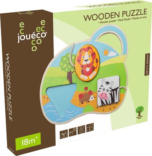 Joueco - Puzzle en forme d'animal 3 assortis