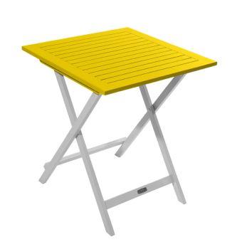Table carrée pliante en bois certifié FSC, peinture ...