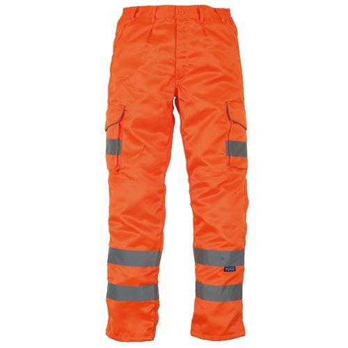 Yoko - Pantalon cargo haute visibilité (Lot de 2) (46 FR Régulier) (Orange) - UTRW6887