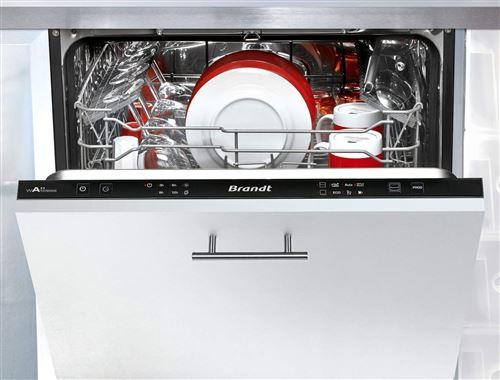 Brandt VH1704J - Lave-vaisselle - intégrable - largeur : 60 cm - profondeur : 55 cm - hauteur : 81.5 cm - noir