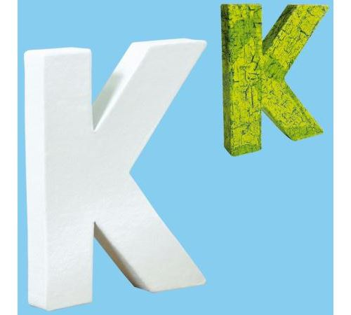 Lettre en carton mini 12 cm K