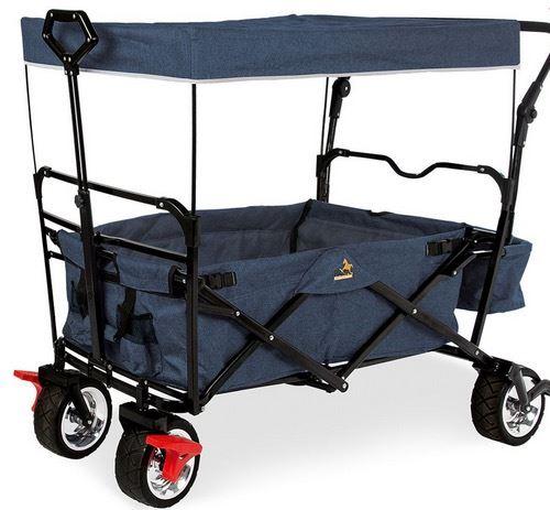 Pinolino Chariot pliable Paxi Style avec frein blue marine mouchete