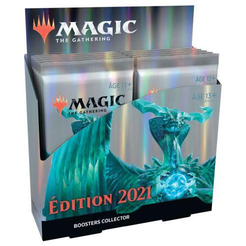 Pack 12 boosters collector de 15 cartes supplémentaires édition 2021 de magic the gathering