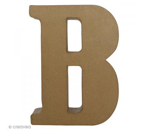 Lettre fantaisie B - 22 x 30 cm