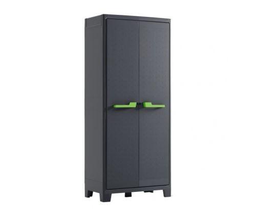 Kis armoire de rangement haute moby - 80 x 44 x 182 cm - gris anthracite